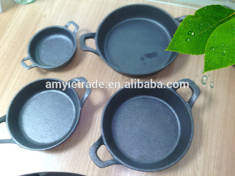 mini cast iron fry pan set/cast iron cookware