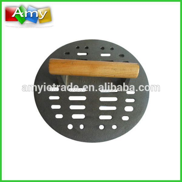 Handle Wooden Cast Iron Tortilla Press