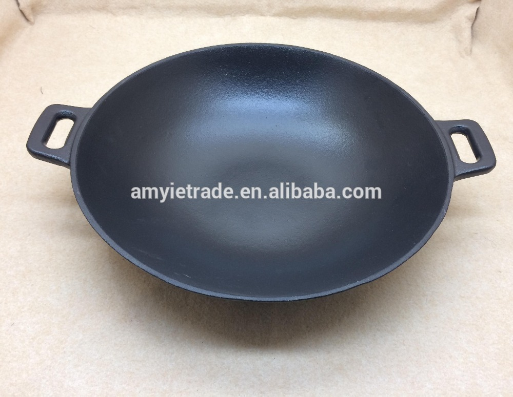 Preseasoned Cast Iron China Wok