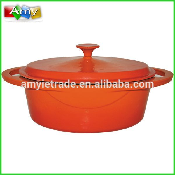 SW-KB300 Oval Cast Iron Enamel Soup Pots, Enamel Cast Iron Cookware