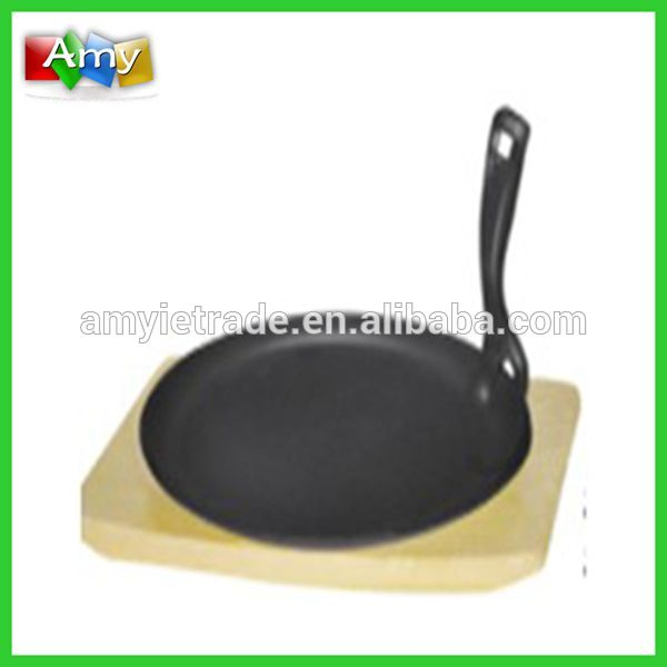 Cast Iron Round Fajita Pan, Cast Iron Teppanyaki Plate, Japanese Cast Iron Cookware