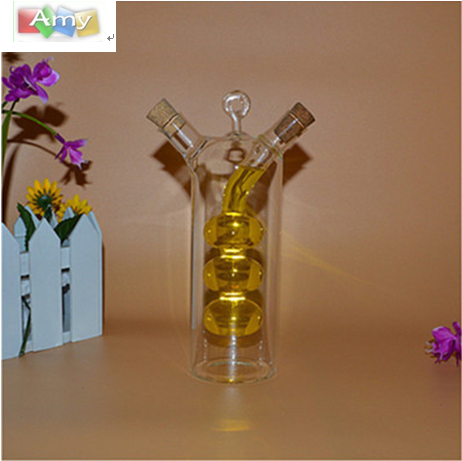 Quality glass oil dispenser and vinegar bottle