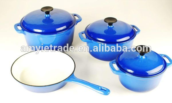 enamel cast iron durable cookware set