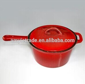 2QT enamel cast iron saucepan with lid Featured Image