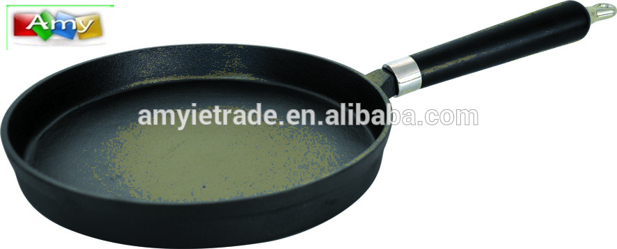 SW-FPR245 Cast Iron Pan 24x3cm Kitchen Use, Black
