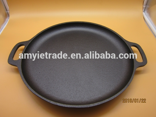 Pre-seasoned Cast Iron Pizza Pan,Cast Iron Cookware