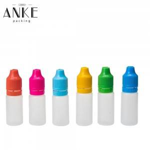 10ml TPD1-10 PE colorful Bottles with childproof tamper cap