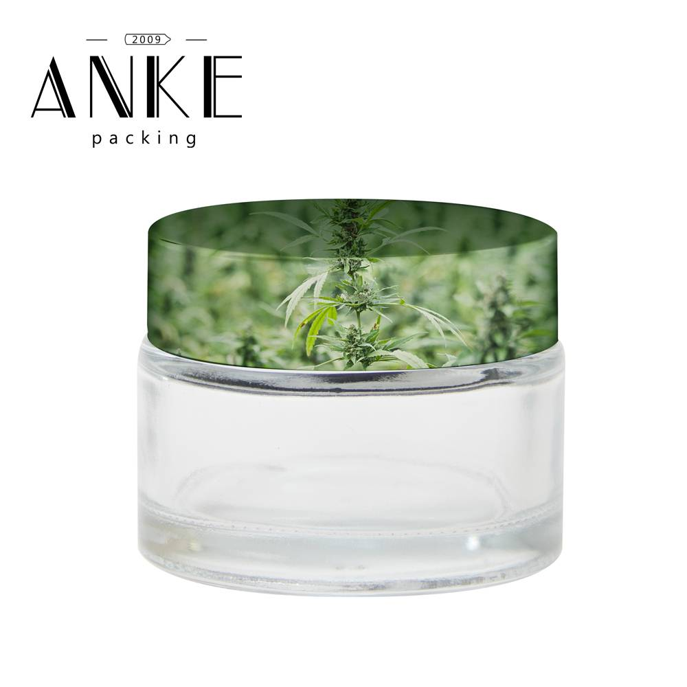 Print Hemp on cap of CBD Jar-ANKE Packing