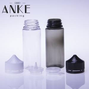 120ml CGU-Refill V1 unicorn bottle clear bottle with clear/black cap SCREW TIP