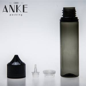 60ml CGU Refill V4 Clear/black bottle with clear black cap