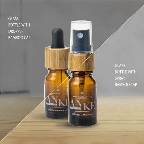 Glass bottle with bamboo cap-ANKE Packing
