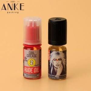 Customize Plastic/Silver  label for e liquid bottle