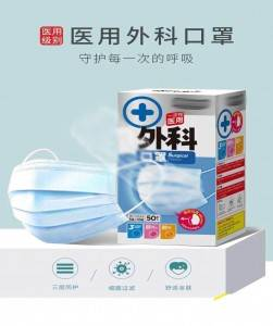 Non-woven disposable 3ply Face Mask