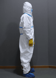 Disposable CE FDA Clothing Medical Protecting Chemical Safety Virus Isolation Sterile Hazmat Coverall Protection Suit