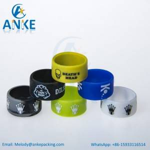 Silicone Vape Band with Silk/Emboss/Deboss Printing