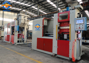 Automatic horizontal foundry sand molding machine