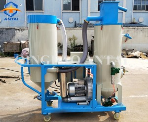 Automatic recovery dust free mobile sand blasting machine