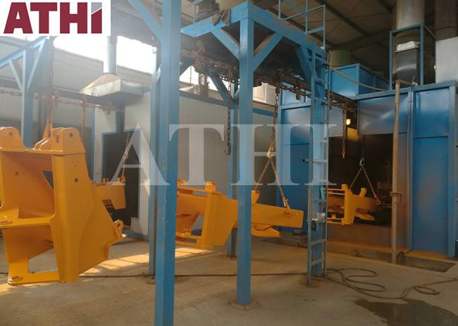 Automatic Shot blasting machine and paint spraying machine system for beam structural steel Featured Image