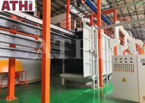 Automatic Shot blasting machine and paint spraying machine system for beam structural steel