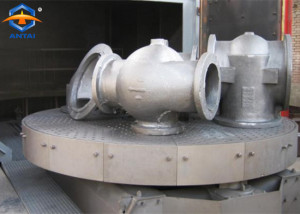 bogie(table trolley) shot blasting machine