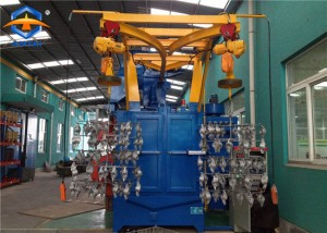 spinner hanger shot blasting machine for forging casting parts