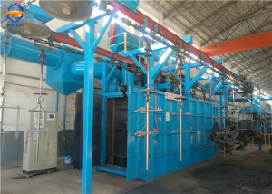 monorail conveyor shot blasting machine