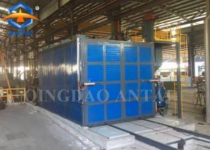 Shot Blasting booth with manual blasting pot Recovery Grit system Dust Collection Systems