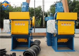 Q324 smaller tumble belt shot blasting machine
