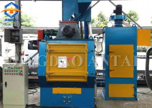 Q326 tumble rubber belt shot blasting machine