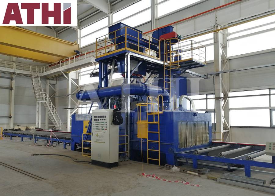Roller type QAT6925 shot blast cleaning machine in Kazakhstan