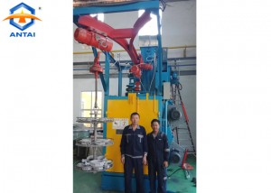 QD376 Double hook type shot blasting machine