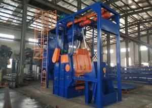 QR3210 automatic loading type shot blasting cleaning machine for forging casting parts