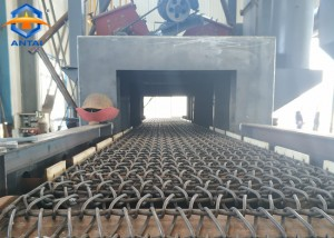 QWD800 Wire Mesh Belt Conveyor Shot Blasting Machine