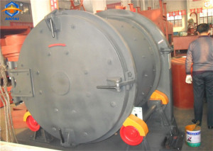 Rolling drum shot blasting machine