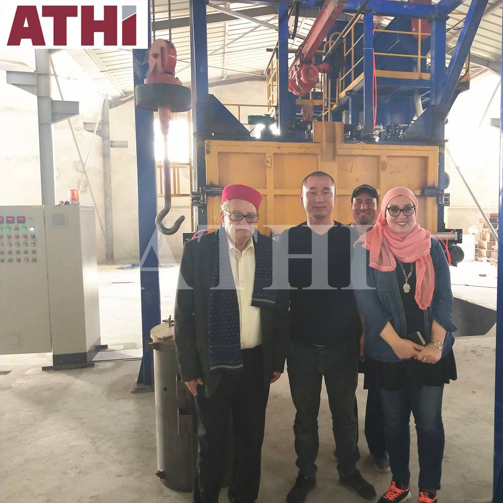 QD3720 Double hooks shot blasting machine Installed in Tunisia