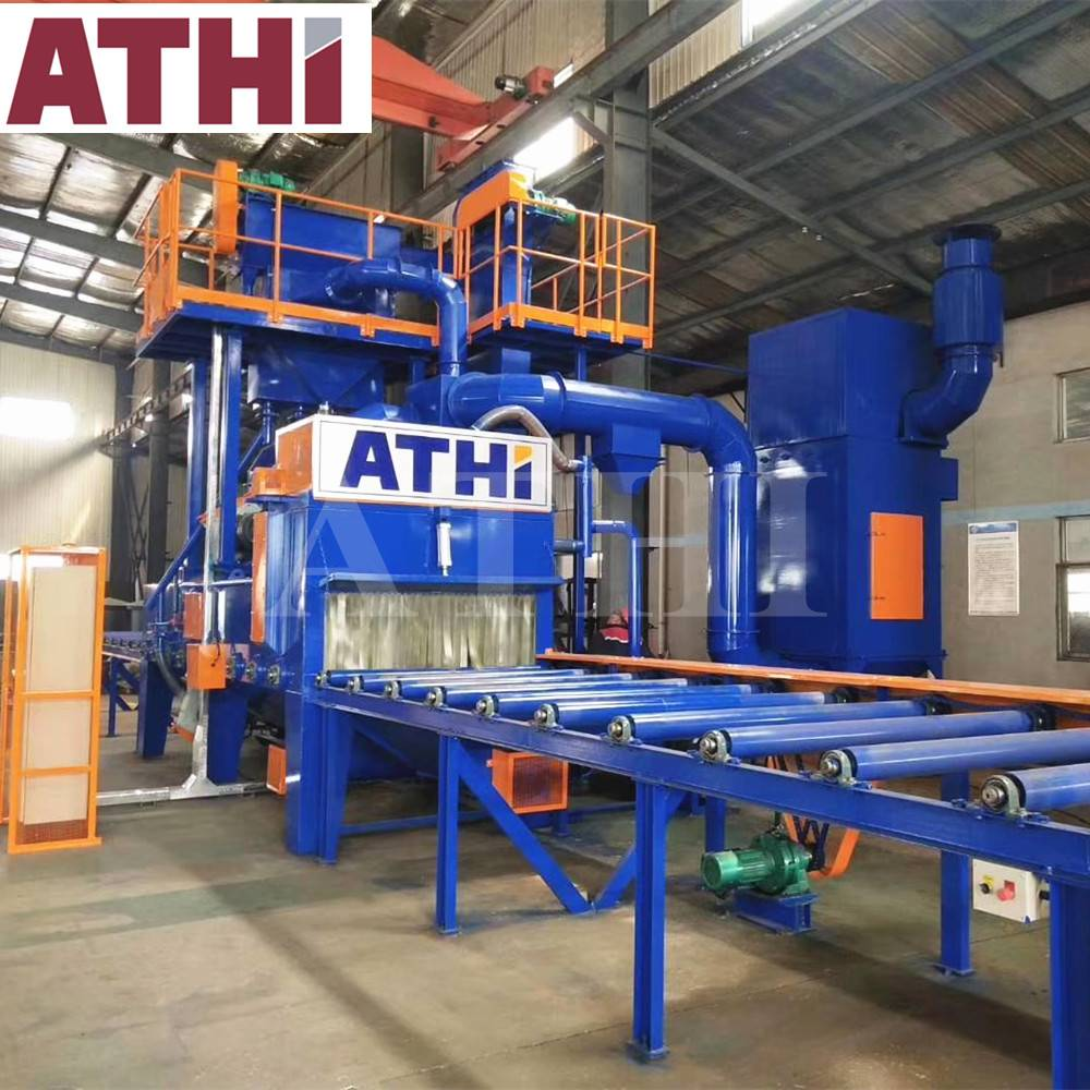 Q6916 Roller conveyor type shot blasting machine