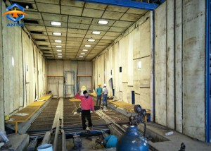 manual shot blasting booth/room with recovery system