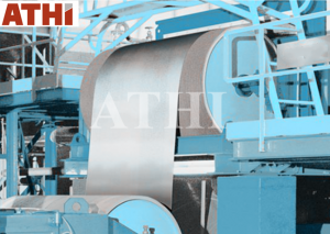 Steel belt coil strip surface cleaning shot blast machine