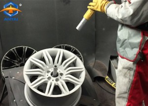 Alloy aluminium wheel rims shot blast cleaning machine