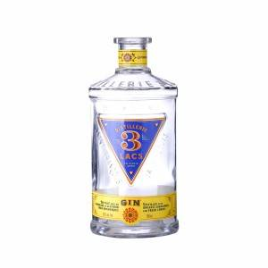 Customized Logo 750ml Distillerie 3 lacs Flint bottle
