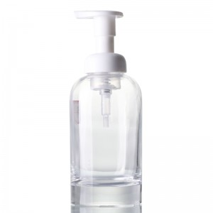 500ml clear glass soap dispenser with pump