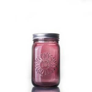 Logo Customized Spray Coating color mason jar