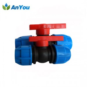 PP Compression Ball Valve