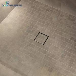 Ningbo aootan square stainless steel pool floor drain cover Bathroom Stainless Steel Floor Drains