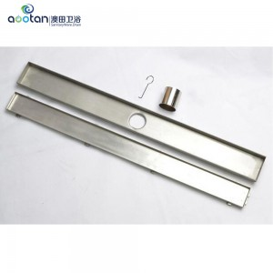 2017 wholesale price linear 304 stainless steel shower drain -