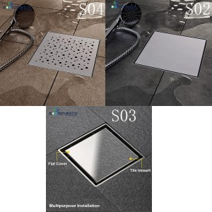 Popular Design for wholesale bathroom shower drains -