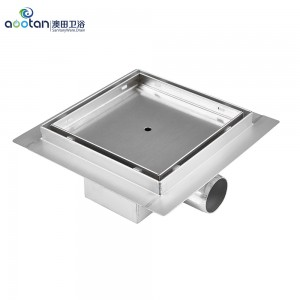 Factory Supply stainless steel side outlet shower drain -