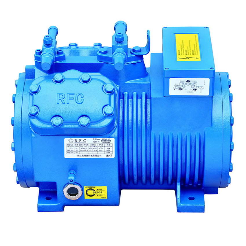 Semi-HERMETIC RECIPROCATING COMPRESSOR R22 R404A R134A R507A RFC 6Cylinders Artikel Gambar