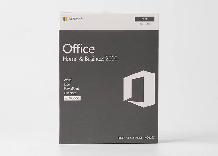 Microsoft Office Home and Business 2016 vir MAC PKC Retail boks Online Activation