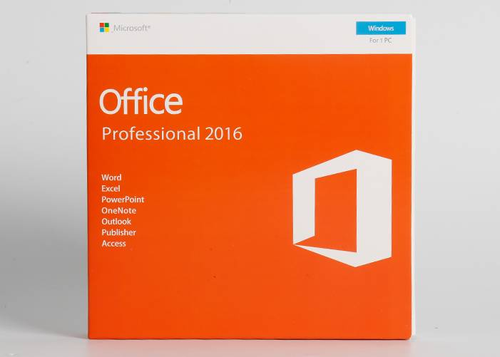Microsoft Office 2016 pro plus 1 DVD + 1 software Key Card Retail Version